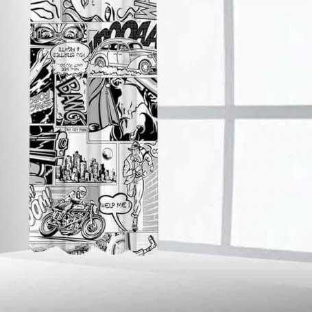 Cortina ollaos dormitorio juvenil personalizado Comic Conjunto textil-hogar