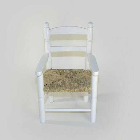 100-sillon-bola-n28-blanco-niño-asiento-de-anea-enea-vista-vista frontal