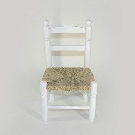 RE205-Silla-bola-costurera-blanca-asiento-anea-vista-frontal