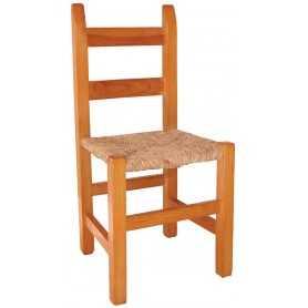 Silla Comedor barra cuadrada madera maciza pino asiento Anea -Enea