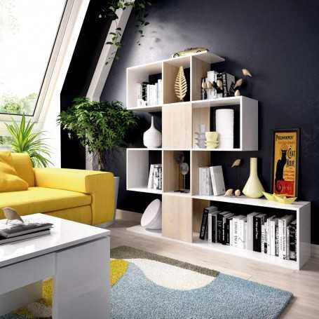 Estanteria mueble kit en zigzag modelo Fulvia