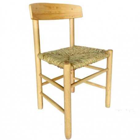 Silla madera haya asiento de anea-enea Ponencia Luxe