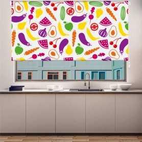 Estor para cocina estampado impresión digital Ovozole colores