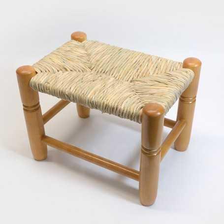 Taburete nido pino madera asiento anea-enea 401 pulido miel