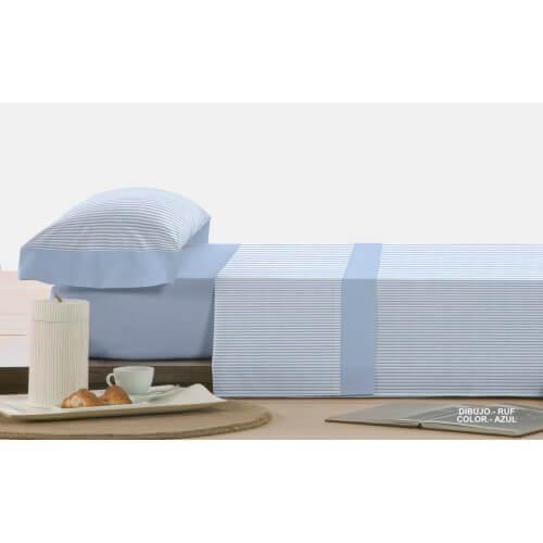 Azul Juego de sábanas 120 cm RUF Algodón-Polyester 50%