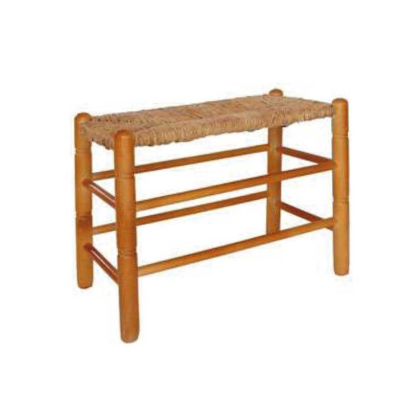 Banco 60 madera asiento anea-enea