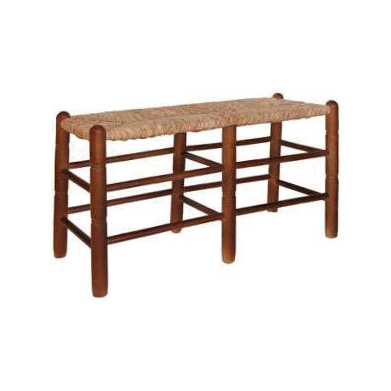 Banco 85 madera asiento anea-enea