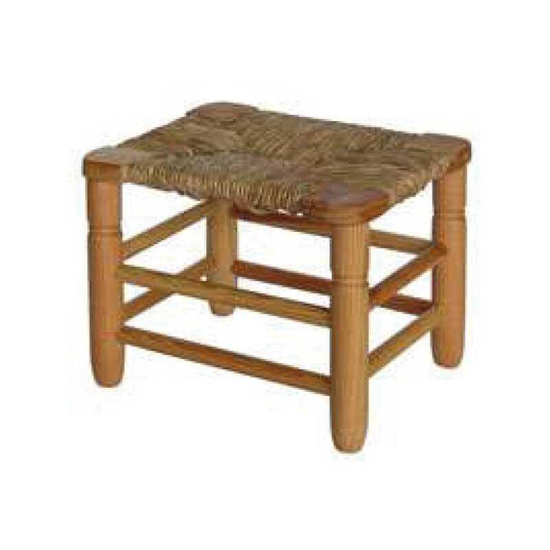 Taburete nido tacos chopo madera asiento anea-enea