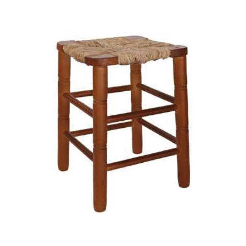 TMPS - 420 Taburete piramidal madera 37-47 asiento cuadrado enea puntogar