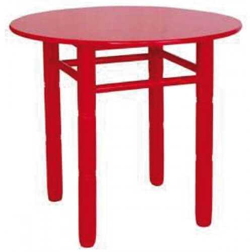 Mesa redonda madera