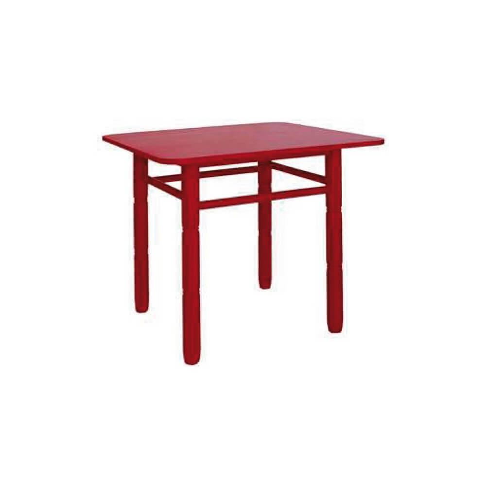 Mesa cuadrada madera - Mesa madera infantil ...