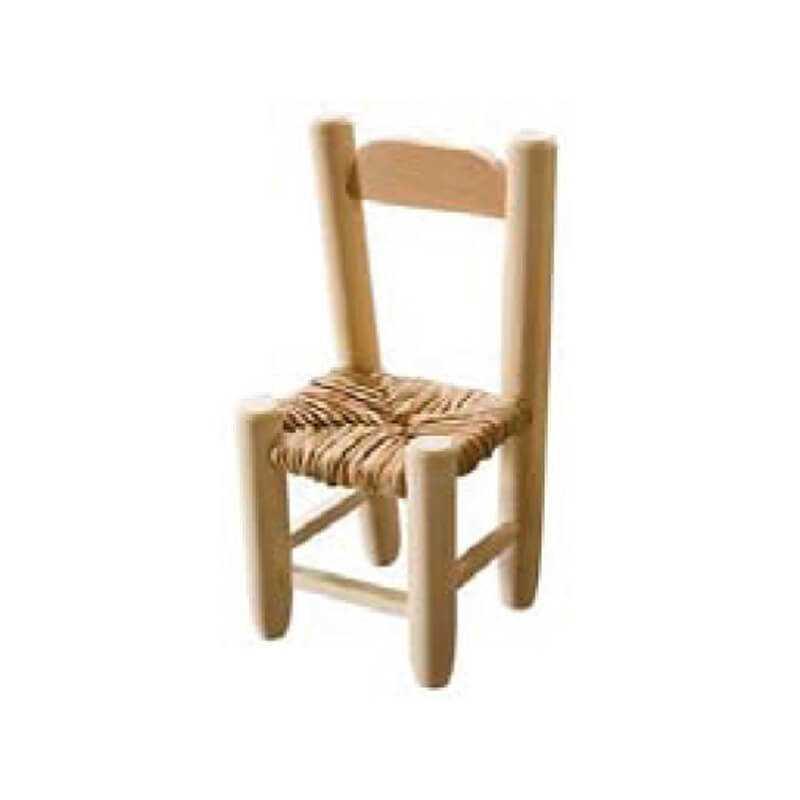 Silla mini madera asiento anea-enea