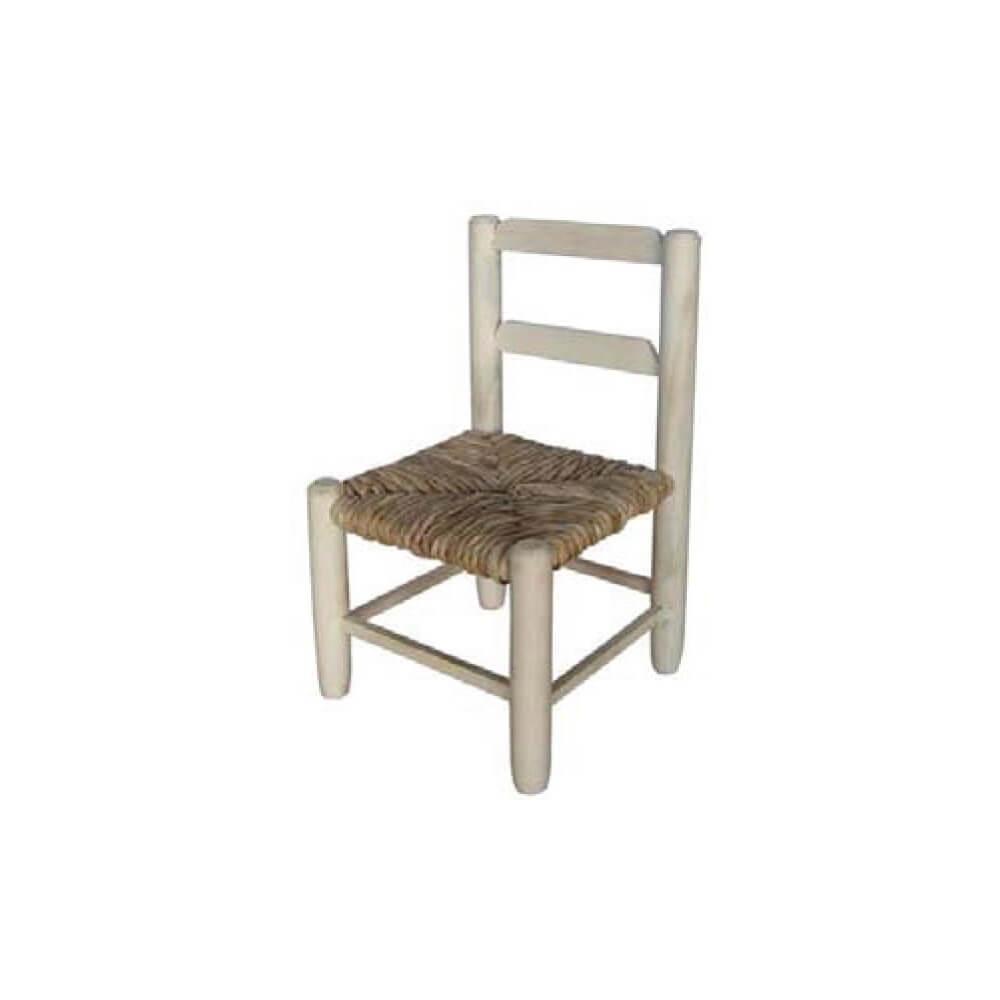 Scsm silla miniatura madera asiento anea enea for Asientos para sillas