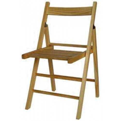 Silla plegable madera