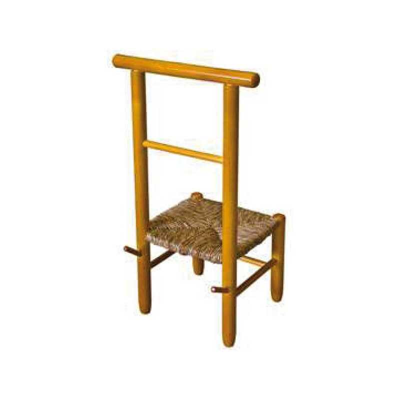 Silla vestidor madera