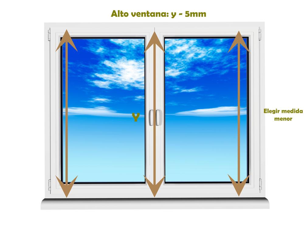 C mo medir la ventana para instalar una mosquitera fija for Mosquitera por metros