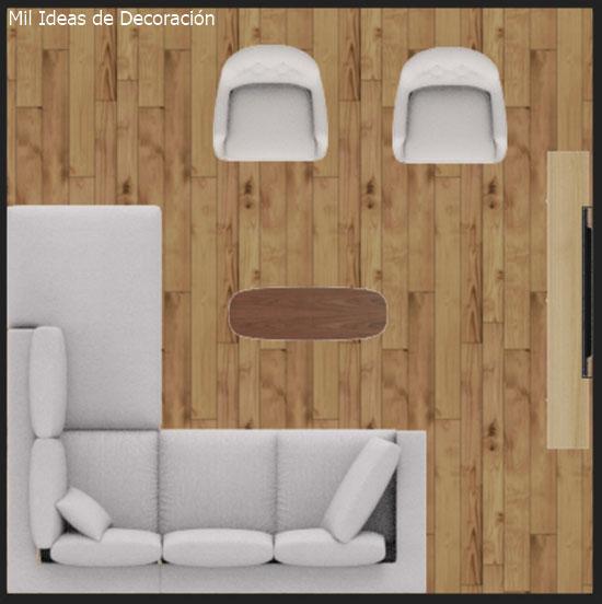 6 ideas sencillas para decorar el sal n de tu casa puntogar - Como decorar un salon en forma de l ...