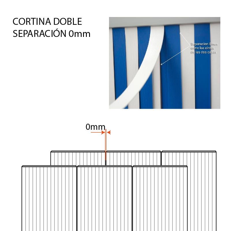 Cortina cintas pvc doble linea completa