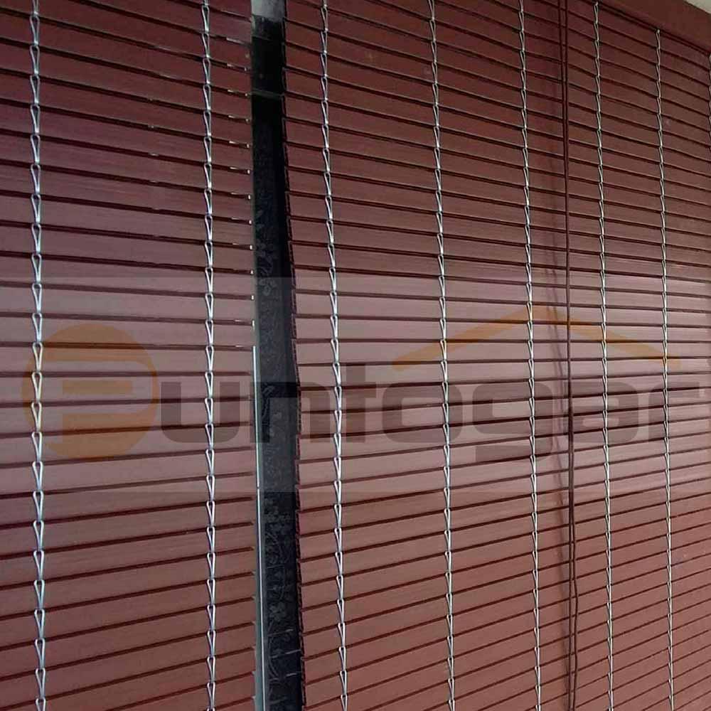 Lamas de plástico tejidas de gancho de alambre