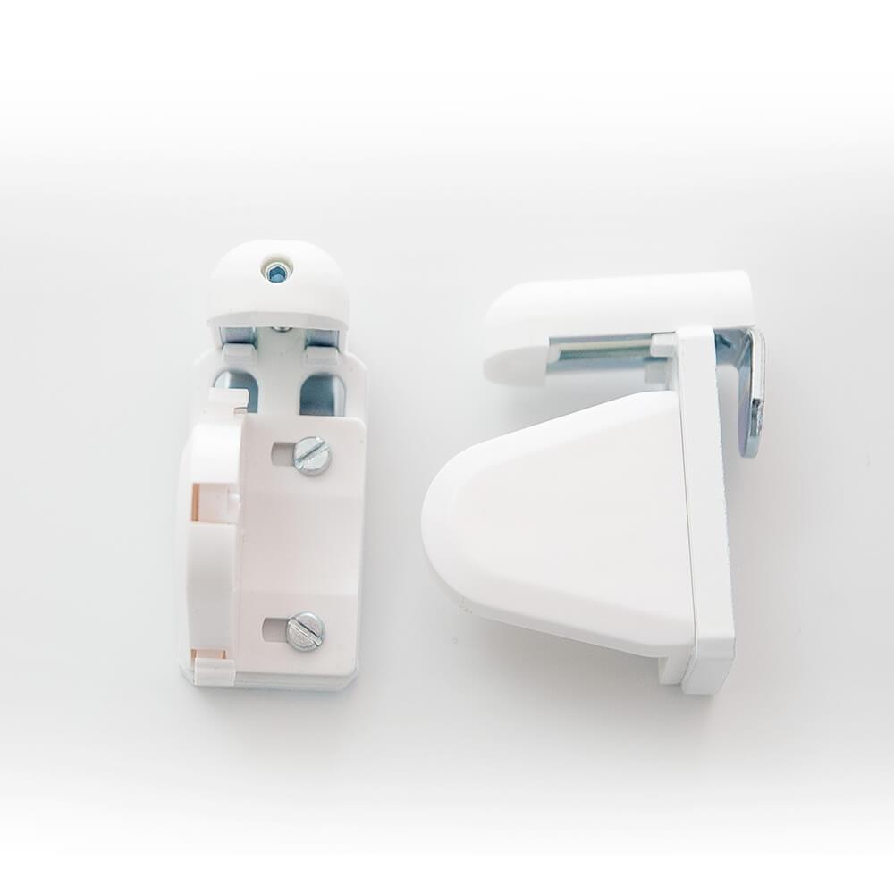 Sujeción sin taladrar con soportes pvc 17mm para estores enrollables puntogar