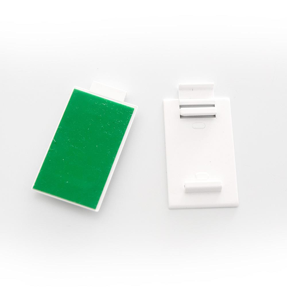 Piezas sujeción adhesivas para soporte estor 17 mm