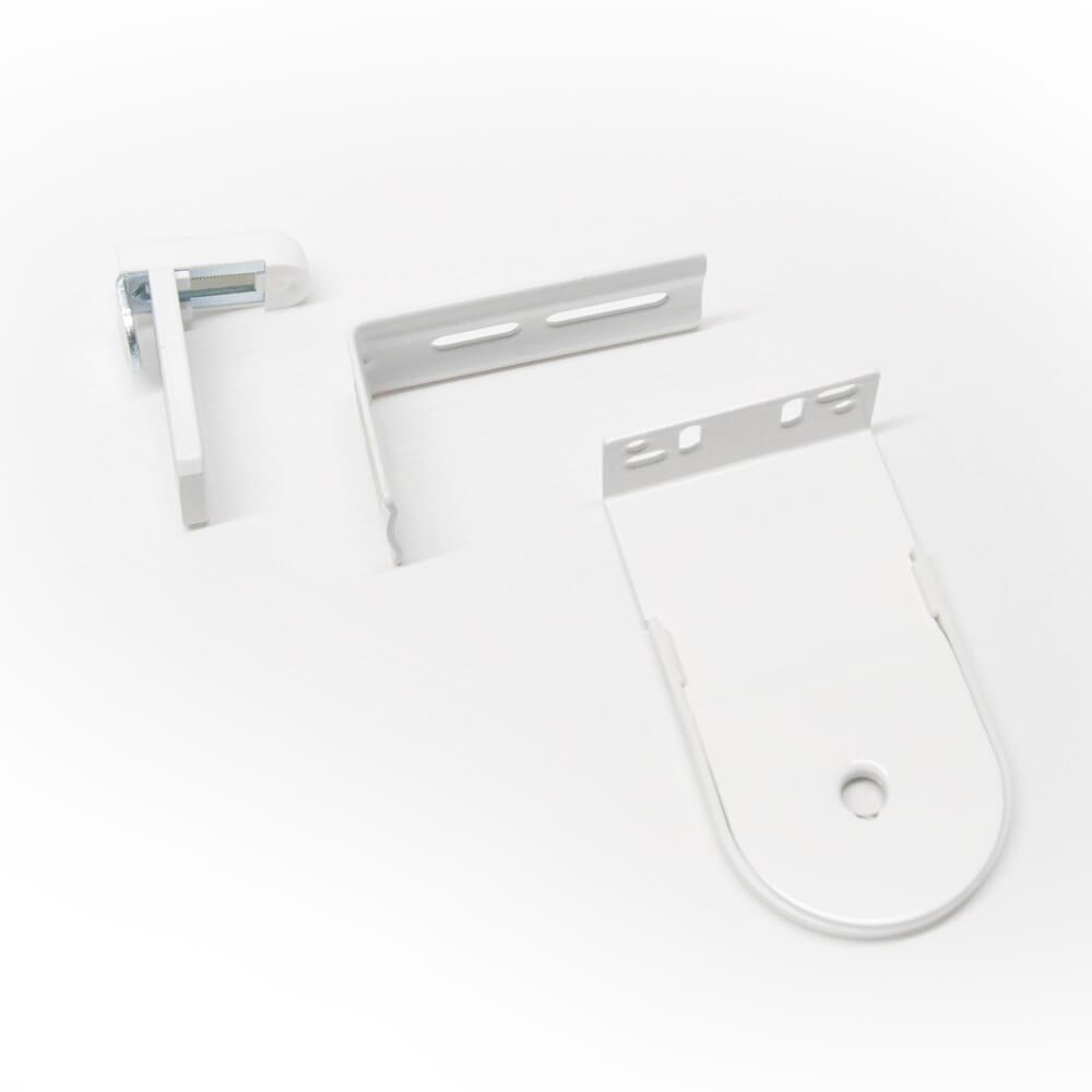 Sujeción sin taladrar con prolongador y soportes 38 mm para estores enrollables puntogar
